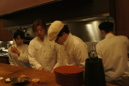 Restaurant Yonemura Gion: The master chef right.