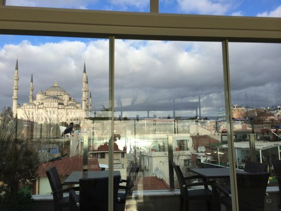 Ferman Hotel : view from breakfast bar