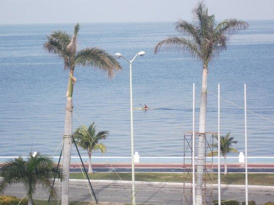 Gamma Campeche Malecon: Vue sur kayak du balcon de notre chambere 309 - 8 février 2014