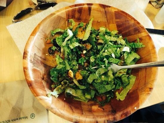 Hot Krust Panini Kitchen: salada com camarões