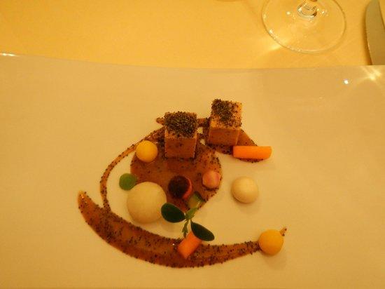 Les Magnolias : Foie gras, jeunes légumes croquants