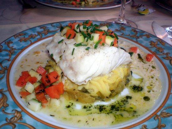 Auberge du Clos Normand : cabillaud et ses petits légumes