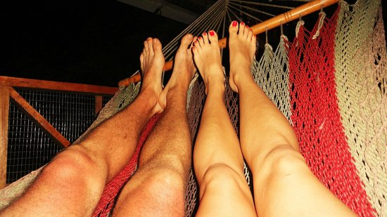 Finca Rio Perla: We loved lounging in these hammocks