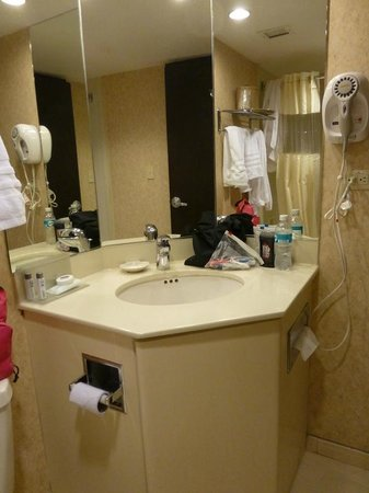 Hampton Inn by Hilton Guayaquil-Downtown : Another view of bathroom - excuse our mess