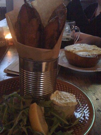 Kex Hostel : Fish and chips at Kex