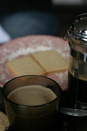 Kex Hostel : Coffee and Kex cookies at Kex