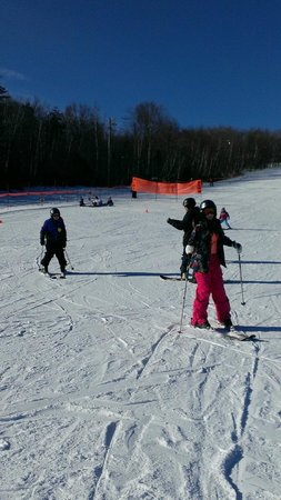 Central Hainesville, Kanada: First skiing lesson