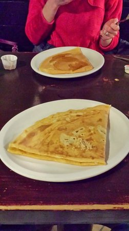 Creperie Catherine : Crepes, one with brown sugar the other with maple syrup.