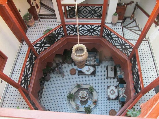 RIAD EL WIAM: Looking down from outside our room