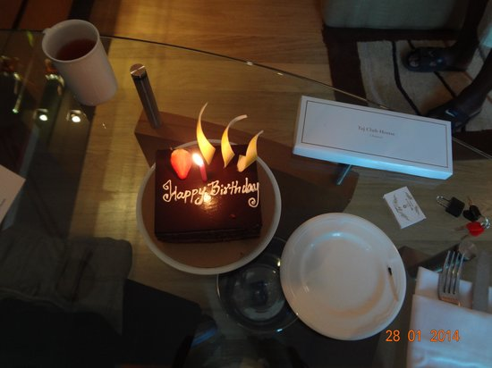 Taj Club House: Birthday Cake from Management and Staff
