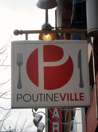 Poutineville : The sign of the restaurant