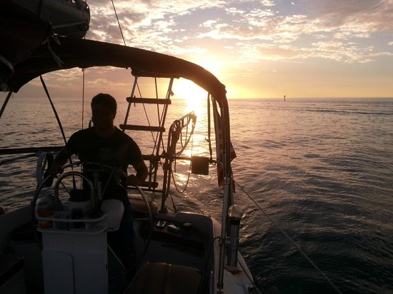 Anna Maria Sailing Adventures: Me, Steering the Ship