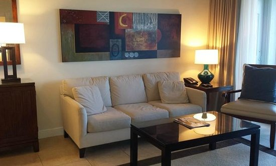 The Westin Cape Coral Resort At Marina Village : One bedroom suite living room