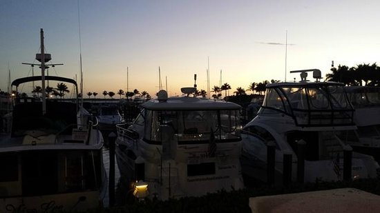 The Westin Cape Coral Resort At Marina Village: Walking along the marina at sunset