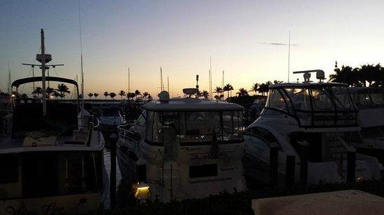The Westin Cape Coral Resort At Marina Village : Walking along the marina at sunset