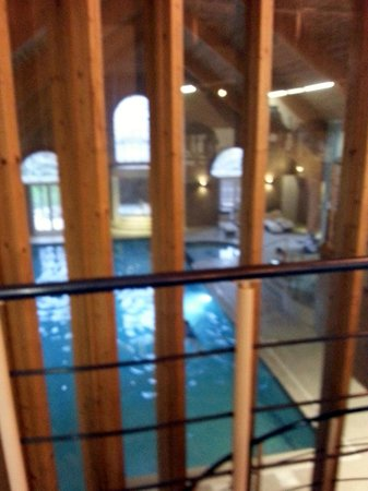 Park Farm Hotel: Picture taken from Gym looking down on the pool below.