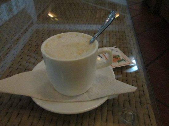 Hotel Palma Real: sans oublier leur bon cappucino succulent