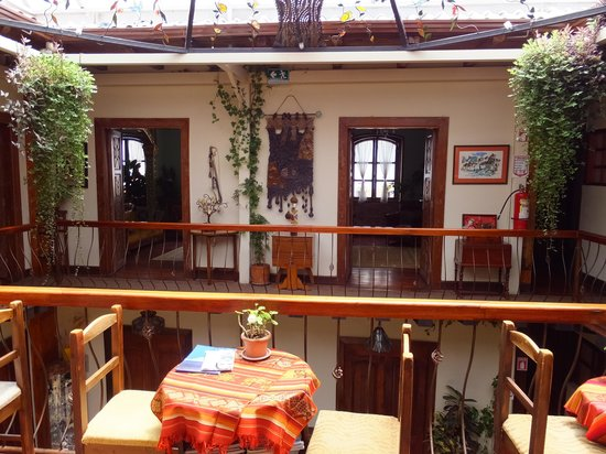 Hotel Boutique Portal de Cantuna : View from upstairs
