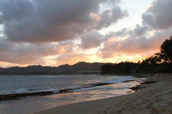 Courtyard Kaua'i at Coconut Beach: Sunset from the beach
