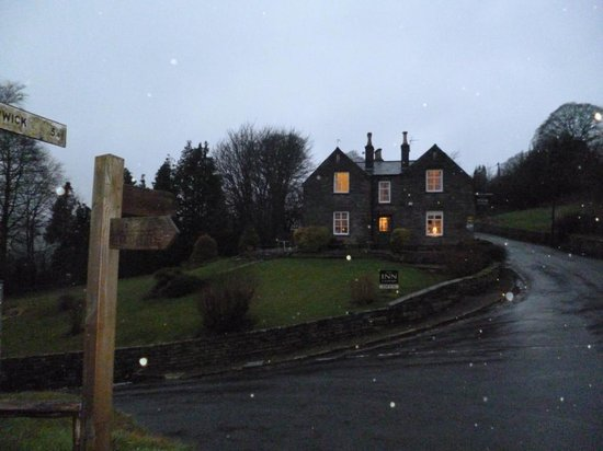 The Inn at Hawnby: The Inn taken as it was sleeting!