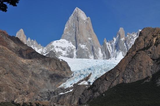 Glaciar Piedras Blancas: Fitz Roy avant le mirador de Piedras Biancas