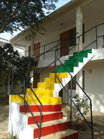 Hostal Donosti: escaleras 1ª planta