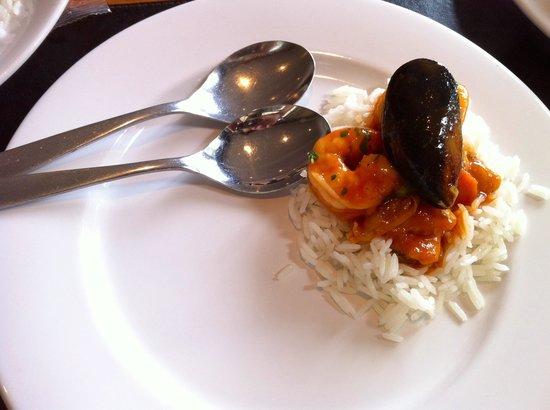 La Cantina del Puertito: Mi degustación de la cazuela de mariscos.