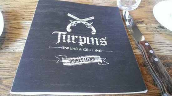 Turpin's Bar and Grill: Menu
