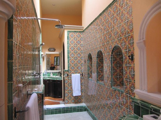 Antigua Capilla Bed and Breakfast : The shower