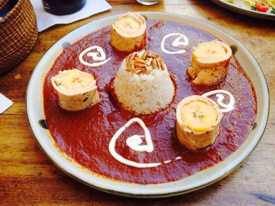 La Biznaga : Zandunga. Guava mole chicken bananas rice!