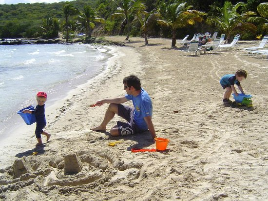 Nonsuch Bay Resort : Great beach for sandcastles