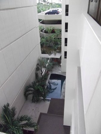 The Equus Hotel : view of oasis that inclues pool & quiet sitting area