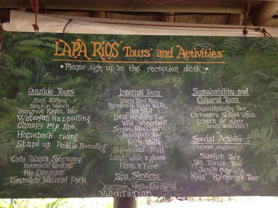 Lapa Rios Ecolodge Osa Peninsula: Activities that are offered