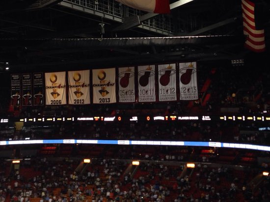 American Airlines Arena: Heat Game Champ.