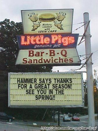 Hammer's House of Hog: See you in April!