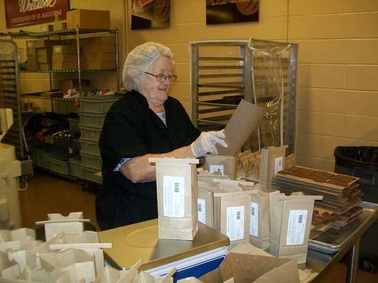 Whetstone Chocolates : Bagging up the candy