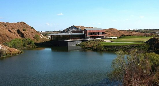 Streamsong Golf Clubhouse: Clubhouse from #7 tee Blue