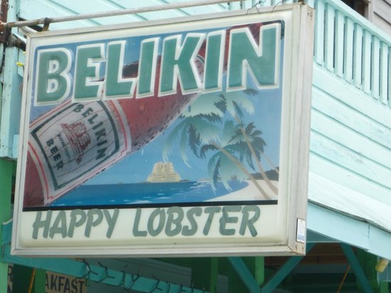 Coral Breeze Tours: Belikin Beer sign