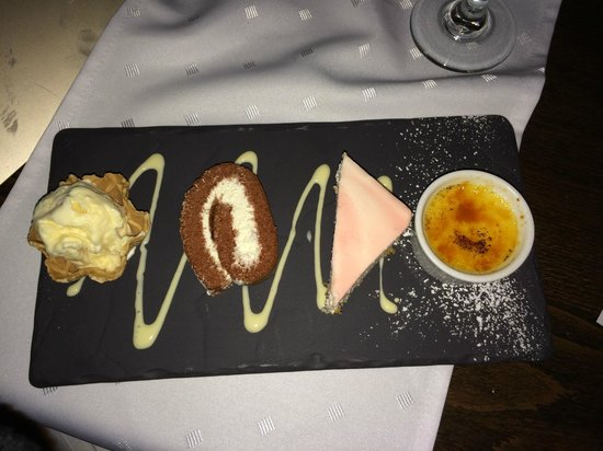 Brooks Restaurant: desserts - preseted on slate