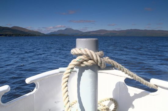Loch Lomond: view on the boat tour