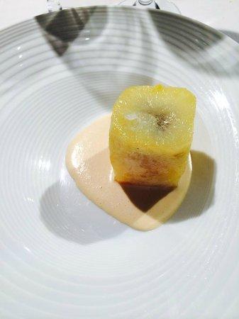 Rodero: Tortilla de patata y trufa con natilla de cebolla (una gran sorpresa)