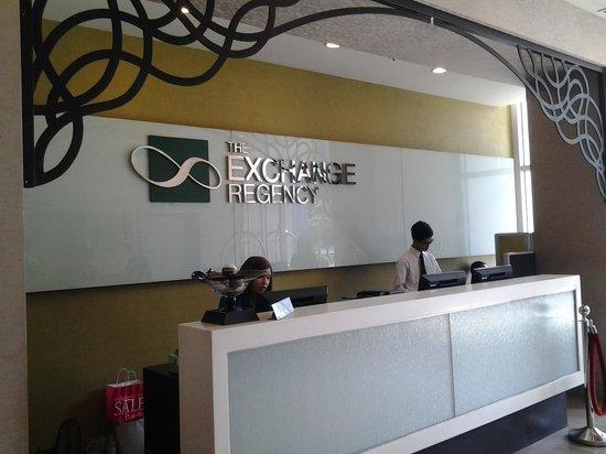 The Exchange Regency Residence Hotel : front desk