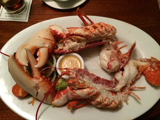 Morans Oyster Cottage: lobster