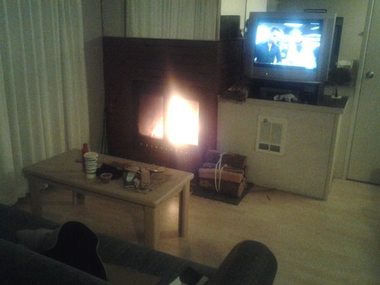 Weatherly Suites: Fireplace and Tv
