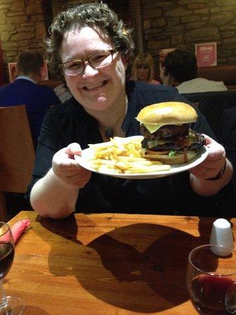 Grills Steakhouse: Mahoosive monster burger