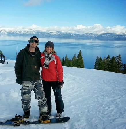 Sierra at Tahoe: My son & I at the top.