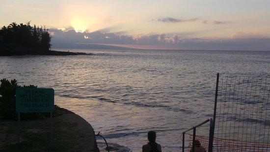 Private beach at Kahana Sunset