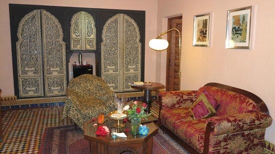 Dar Ayniwen Villa Hotel: Living room - Tiwaline II suite