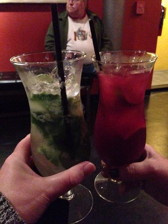 Mango mojito and sangria were a delish treat during our short wait for a table. Seated promptly,