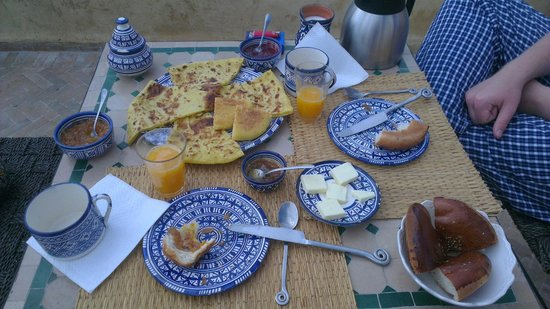 dar gnaoua: The lovely breakfast
